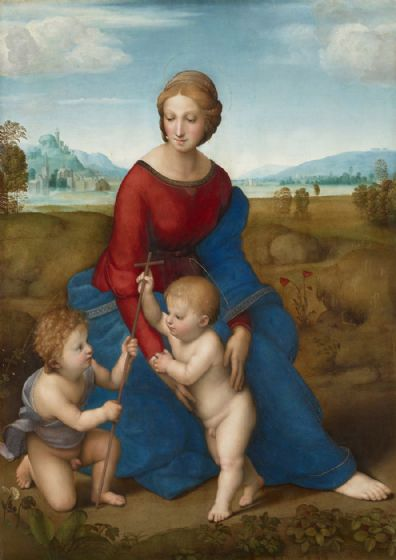 Raphael (Raffaello Sanzio of Urbino): Madonna in the Meadow. Fine Art Print/Poster. Sizes: A4/A3/A2/A1 (001939)